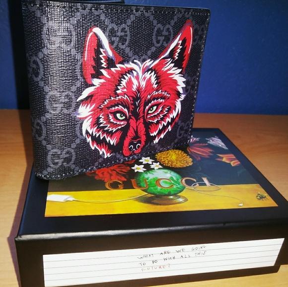 4d613552465d Gucci Bags | Gg Supreme Wolf Wallet | Poshmark